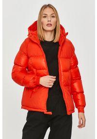 Czerwona kurtka columbia z kapturem, casualowa, na co dzień