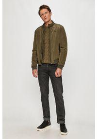 Zielona kurtka Pepe Jeans na co dzień, bez kaptura, casualowa