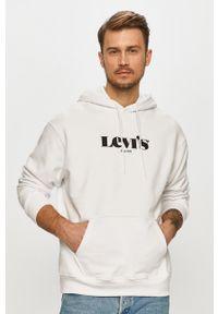 Levi's® - Levi's - Bluza bawełniana. Okazja: na spotkanie biznesowe. Kolor: biały. Materiał: bawełna. Wzór: nadruk. Styl: biznesowy