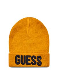 Żółta czapka zimowa Guess
