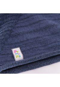 PaMaMi - Wiosenna czapka dziewczęca PaMamI - Ciemnoniebieski. Kolor: niebieski. Materiał: bawełna, elastan. Sezon: wiosna