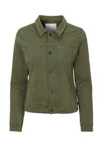 Zielona kurtka Freequent elegancka, w kolorowe wzory