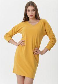 Żółta sukienka mini Born2be