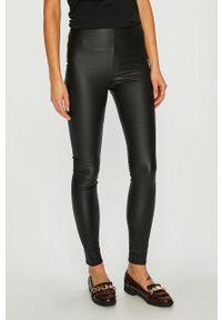 Czarne spodnie materiałowe Vila