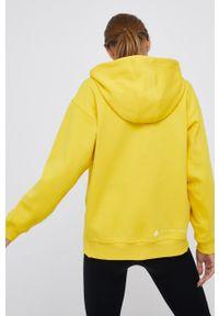 Adidas by Stella McCartney - adidas by Stella McCartney - Bluza. Typ kołnierza: kaptur. Kolor: żółty. Materiał: bawełna, poliester