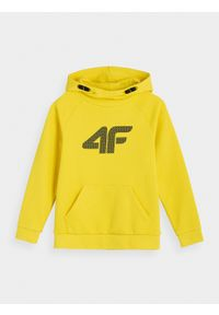 Żółta bluza 4f casualowa, ze stójką, na co dzień