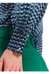 Niebieska bluzka TOP SECRET elegancka, na zimę