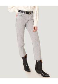 IRO - Szare jeansy Deen. Stan: podwyższony. Kolor: szary