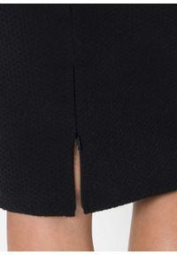 Elastyczna spódnica ołówkowa żakardowa bonprix czarny. Kolor: czarny. Materiał: żakard