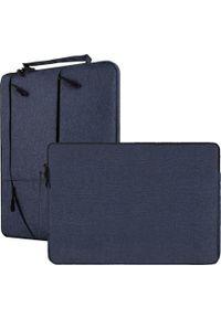 Niebieska torba na laptopa NoName