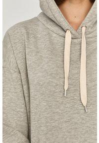 Answear Lab - Bluza bawełniana. Typ kołnierza: kaptur. Kolor: szary. Materiał: bawełna. Styl: wakacyjny