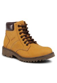 Brązowe buty zimowe Geox z cholewką