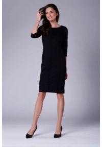 Czarna sukienka wizytowa Nommo casualowa