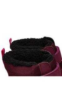 Clarks Śniegowce Jumperspring Y 261558367 Bordowy. Kolor: czerwony