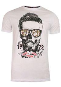 Biały t-shirt Brave Soul z nadrukiem, casualowy, na co dzień