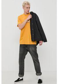 Vans - T-shirt bawełniany. Okazja: na co dzień. Kolor: zielony. Materiał: bawełna. Wzór: nadruk. Styl: casual