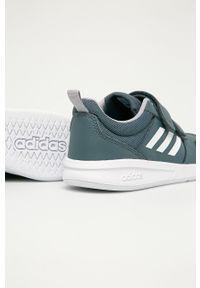 Szare buty sportowe Adidas z cholewką, z okrągłym noskiem, na rzepy
