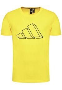 Adidas - adidas T-Shirt Sportswear Graphic Tee GL5658 Żółty Regular Fit. Kolor: żółty