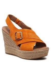 Pomarańczowe sandały Ugg