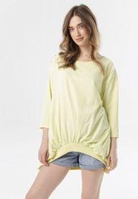 Born2be - Żółta Bluza Aquasea. Kolor: żółty