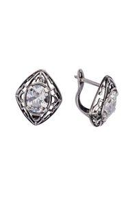 Polcarat Design - Srebrne kolczyki z cyrkoniami K 1579. Materiał: srebrne. Kolor: srebrny. Kamień szlachetny: cyrkonia