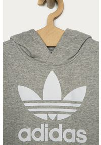 Szara bluza adidas Originals na co dzień, z nadrukiem