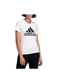 Adidas - Koszulka damska adidas Loungewear Essentials Logo Tee GL0649. Materiał: jeans, bawełna, dresówka