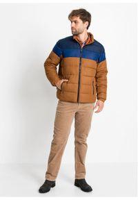 Brązowa kurtka bonprix w kolorowe wzory