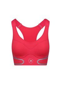 Adidas by Stella McCartney - Top ADIDAS BY STELLA McCARTNEY TRUEPACE BRA. Kolor: różowy. Materiał: tkanina, materiał, guma. Styl: sportowy