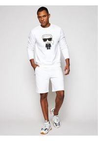 Karl Lagerfeld - KARL LAGERFELD Bluza Ikonik 705060 511951 Biały Regular Fit. Typ kołnierza: dekolt w karo. Kolor: biały