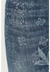 Niebieskie jeansy Desigual z podwyższonym stanem