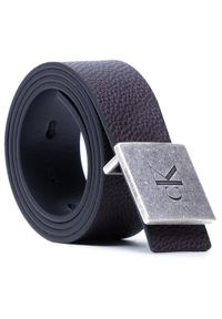 Calvin Klein Pasek Męski Square Plaque Rey Belt 38Mm K50K506552 Czarny. Kolor: czarny