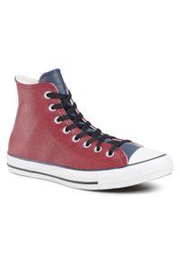 Czerwone półbuty Converse na co dzień, casualowe