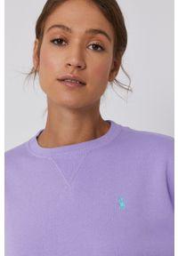Polo Ralph Lauren - Bluza. Typ kołnierza: polo. Kolor: fioletowy. Wzór: aplikacja