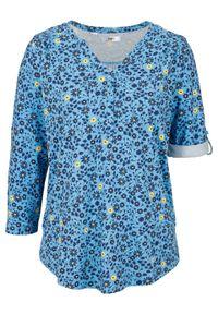 Niebieska tunika bonprix w kwiaty