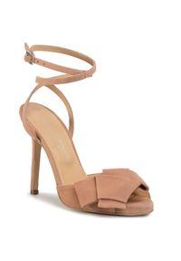 Beżowe sandały Eva Longoria wizytowe