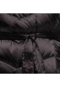 Czarny płaszcz Wittchen z kapturem, elegancki, na jesień