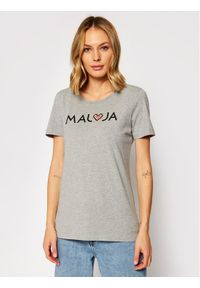 Maloja T-Shirt GatschiM. 30409-1-7096 Szary Regular Fit. Kolor: szary