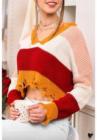 Wielokolorowy sweter IVET