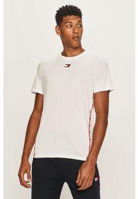 Biały t-shirt Tommy Sport na co dzień, sportowy, z aplikacjami