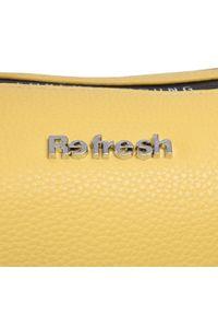 Refresh - Torebka REFRESH - 83373 Yellow. Kolor: żółty. Materiał: skórzane. Rodzaj torebki: na ramię
