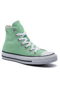 Zielone półbuty Converse z cholewką
