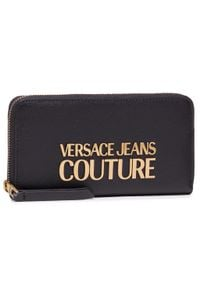 Versace Jeans Couture - Duży Portfel Damski VERSACE JEANS COUTURE - E3VWAPL1 71879 899. Kolor: czarny. Materiał: skóra