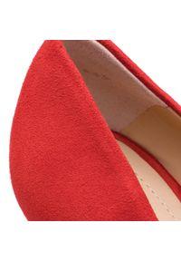 Czerwone szpilki Solo Femme eleganckie, na szpilce, na wysokim obcasie