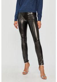 Czarne spodnie materiałowe TwinSet z podwyższonym stanem, klasyczne