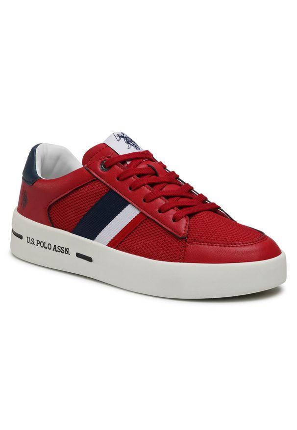 U.S. Polo Assn - Sneakersy U.S. POLO ASSN. - Vega141 VEGA4141S1/LT1 Red. Okazja: na co dzień. Kolor: czerwony. Materiał: skóra ekologiczna, materiał. Szerokość cholewki: normalna. Styl: casual, klasyczny