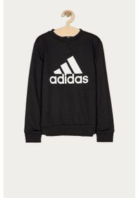 Czarna bluza Adidas na co dzień, casualowa, z nadrukiem
