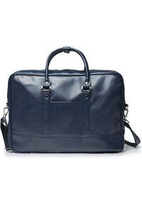 Niebieska torba na laptopa Solier elegancka