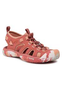 Czerwone sandały keen na co dzień, casualowe