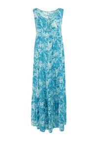 Born2be - Niebieska Sukienka Olyndia. Kolor: niebieski